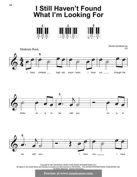 I Still Haven't Found What I'm Looking for: For piano by U2
