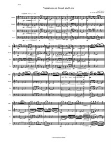 Sweet and Low: Variations, for string quartet by Joseph Barnby