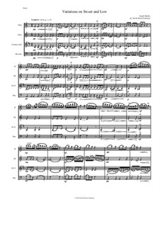 Sweet and Low: Variations, for wind quartet by Joseph Barnby