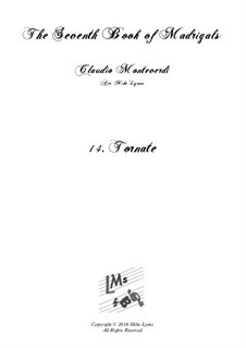 Book 7 (Concerto), SV 117–145: No.14 Tornate, O cari baci a6 by Claudio Monteverdi