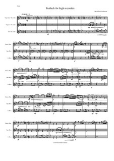 Freilach (Fraylach): For high recorders - sopranino, soprano and alto by David W Solomons