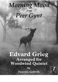 Suite No.1. Morning Mood, Op.46 No.1: For woodwind quintet by Edvard Grieg
