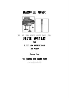 20 Flute Sonatas for Flute and Harpsichord (or Piano) - Scores and Part: 20 Flute Sonatas for Flute and Harpsichord (or Piano) - Scores and Part by Johann Sebastian Bach, Johann Friedrich Fasch, Georg Friedrich Händel, Georg Philipp Telemann, Giuseppe Sammartini, Alessandro Scarlatti, Antonio Vivaldi