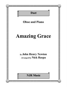 Amazing Grace: For oboe and piano by folklore