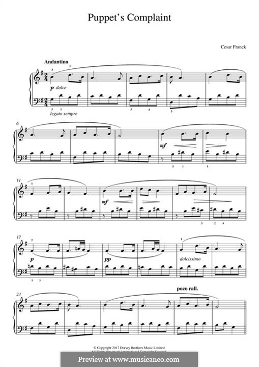 Puppet's Complaint: For piano by César Franck