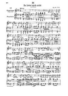 Du liebst mich nicht (You do Not Love Me), D.756 Op.59 No.1: For low voice and piano by Franz Schubert