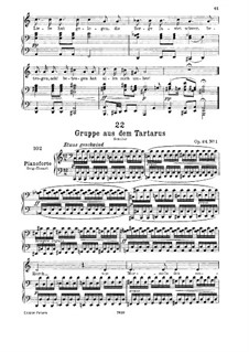 Gruppe aus dem Tartarus (Group from Hades), D.583 Op.24 No.1: For low voice and piano by Franz Schubert