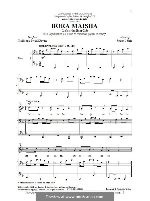 Bora Maisha: SSA by Robert I. Hugh