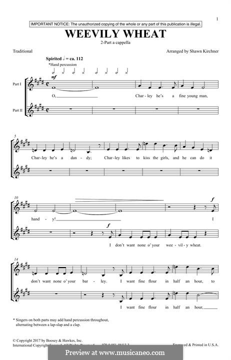 Weevily Wheat: For mixed choir by folklore