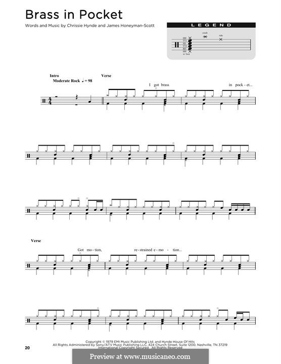 Brass in Pocket (The Pretenders) by C. Hynde, J. Honeyman-Scott on ...