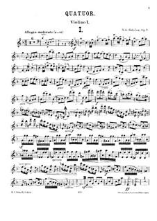 String Quartet No.1 in F Major, Op.7: Violin I part by Nikolay Sokolov
