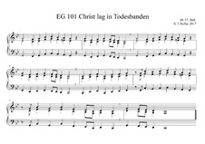 Christ lag in Todesbanden: C-moll by Unknown (works before 1850)