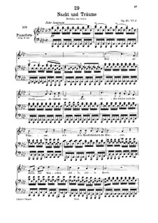 Nacht und Träume (Night and Dreams), D.827 Op.43 No.2: For low voice and piano by Franz Schubert