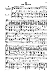 Pax Vobiscum (Peace Be with You), D.551: For low voice and piano by Franz Schubert
