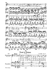 Trost in Tränen (Consolation in Tears), D.120: For low voice and piano by Franz Schubert