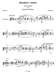 No.7 in A Major: For guitar by Frédéric Chopin