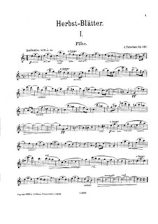 Herbstblätter für Flöte und Klavier, Op.187: Solo part by Adolf Terschak