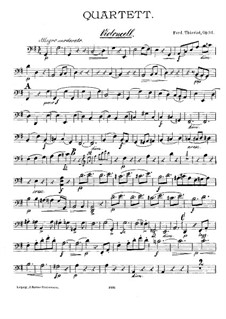 Quartet for Flute and String, Op.84: Cello part by Ferdinand Thieriot
