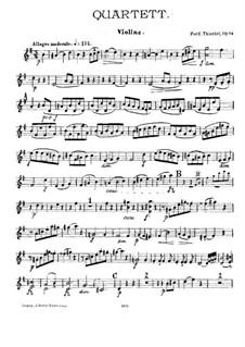 Quartet for Flute and String, Op.84: Violin part by Ferdinand Thieriot