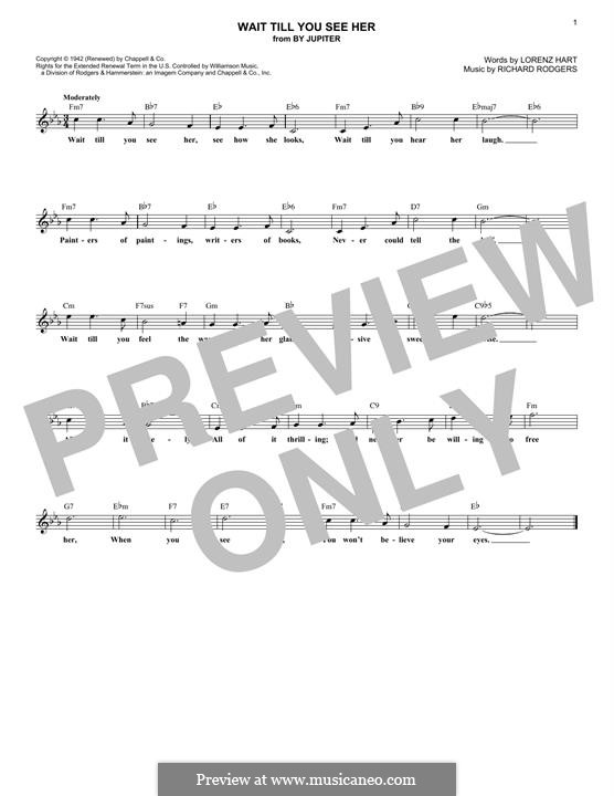 Wait Till You See Her: Melody line by Richard Rodgers