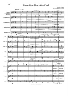 Hence, Care, Thou art too cruel: For recorder quintet by Thomas Weelkes