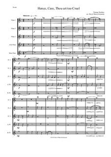 Hence, Care, Thou art too cruel: For flute quintet by Thomas Weelkes