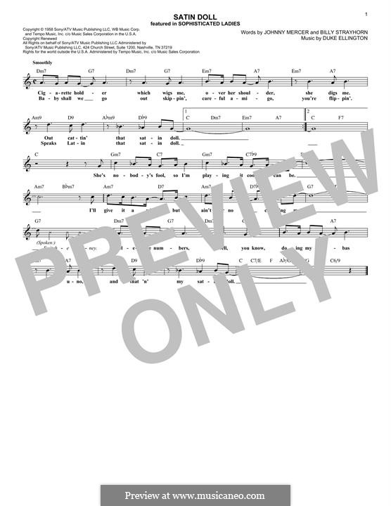 Satin Doll: Melody line by Billy Strayhorn, Duke Ellington