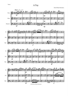 A Toy: For wind trio (flute, oboe, bassoon) by David W Solomons