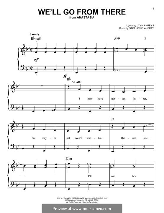 We'll Go from There: For piano by Lynn Ahrens, Stephen Flaherty