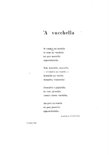 A Vucchella: For voice and piano by Francesco Paolo Tosti