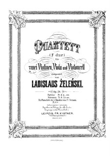 String Quartet in F Major, Op.28: Violin I part by Władysław Żeleński