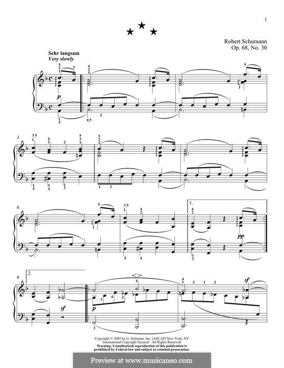 No.30: For piano by Robert Schumann