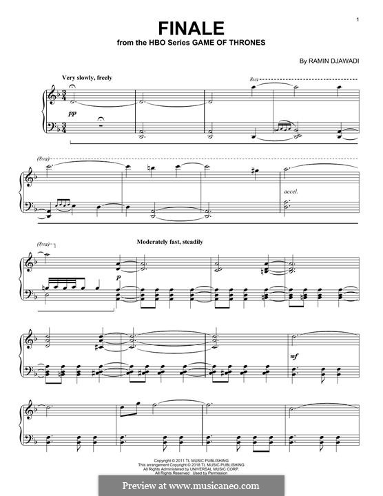 Finale: For piano by Ramin Djawadi