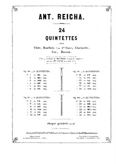 Woodwind Quintet in F Major, Op.100 No.1: Oboe part by Anton Reicha
