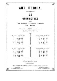 Woodwind Quintet in F Major, Op.100 No.1: Clarinet part by Anton Reicha