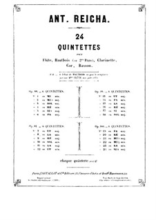 Woodwind Quintet in F Major, Op.100 No.1: French horn part by Anton Reicha