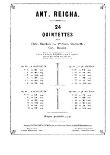 Woodwind Quintet in F Major, Op.100 No.1: Bassoon part by Anton Reicha