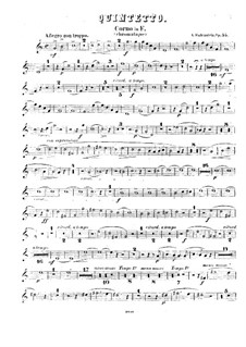 Quintet for Winds and Piano in F Major, Op.55: French horn part by Anton Rubinstein