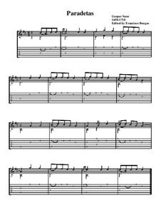 Paradetas: Music and tab by Gaspar Sanz