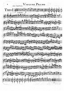 Six Trio for Two Violins and Zither: Violin I part by Giovanni Battista Canaletti