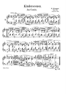 No.8 Am Kamin (At the Fireside): For piano by Robert Schumann