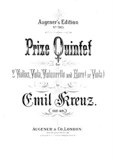 Quintet for Horn (or Viola) and Strings in E Flat Major, Op.49: Viola part by Emil Kreuz