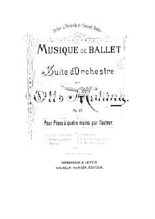 Musique de ballet (Ballet Music), Op.42: No.4 Mazurka, for Piano Four Hands by Otto Malling