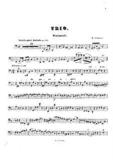 Piano Trio No.1 in F Major, Op.3: Cello part by Robert Volkmann