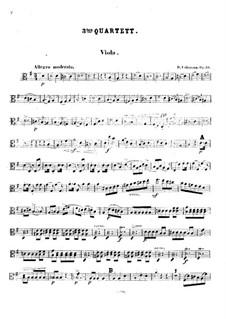 String Quartet No.3 in G Major, Op.34: Viola part by Robert Volkmann