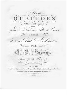 Three String Quartets, Op.17: Cello part by Jean-Baptiste Davaux