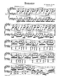 Three Romances for Piano, Op.28: Romance No.2 by Robert Schumann