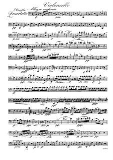 Quartet for Flute and Strings No.3 in C Major, Op.37: Cello part by Raphael Dressler
