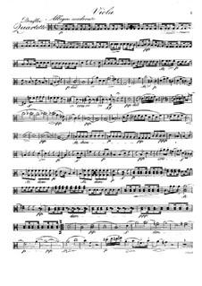 Quartet for Flute and Strings No.3 in C Major, Op.37: Viola part by Raphael Dressler