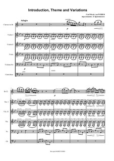Introduction, Theme and Variations: For clarinet and strings by Carl Maria von Weber